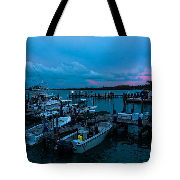 Bimini Big Game Club Docks After Sundown Tote Bag