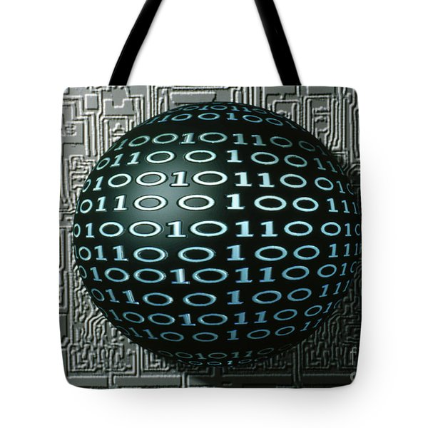 Binary Sphere Tote Bag by Gregory MacNicol