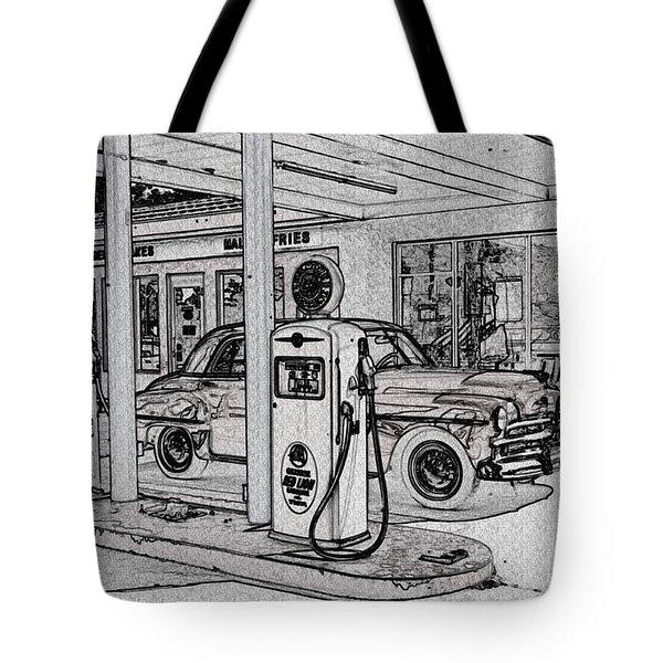 Bings Burger Station Cottonwood Arizona Tote Bag by Janice Rae Pariza
