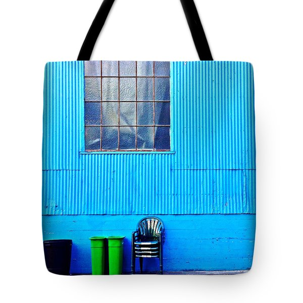 Bins And Chairs Tote Bag