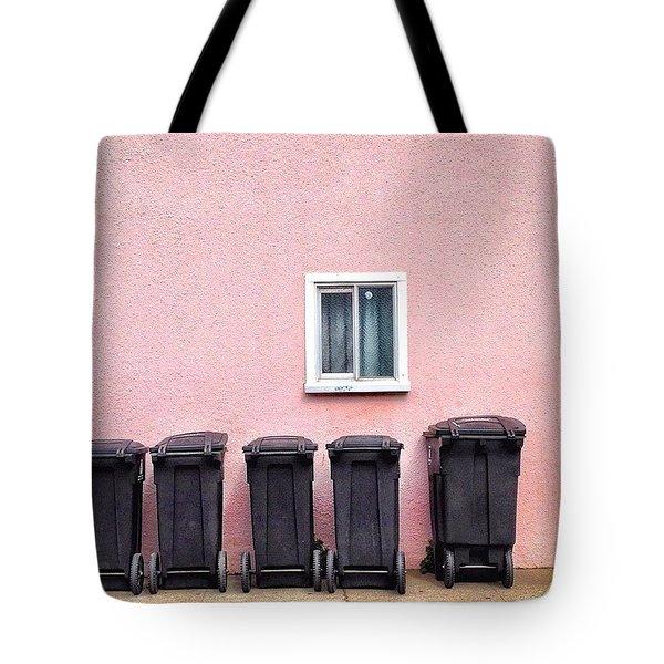 Garbage Bin Family Tote Bag