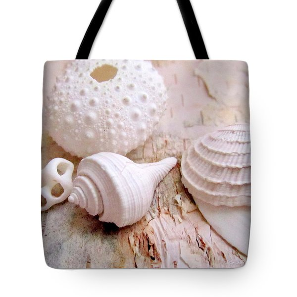 Birch And Shells Tote Bag