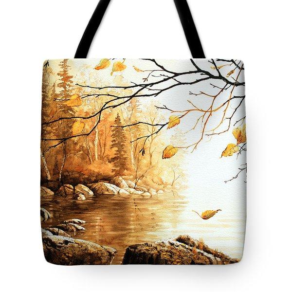 Birch Island Mist Tote Bag by Hanne Lore Koehler