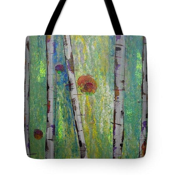 Birch - Lt. Green 5 Tote Bag