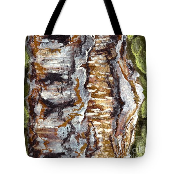 Birch Peel Tote Bag by Heather  Hiland