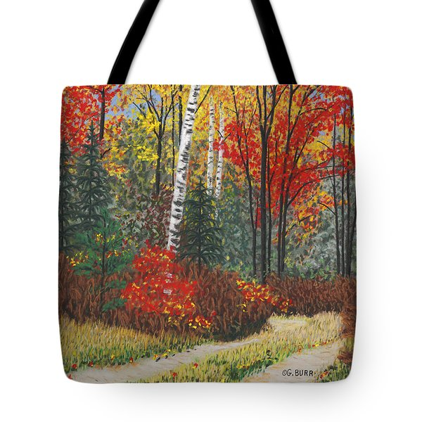 Birch Trail Tote Bag