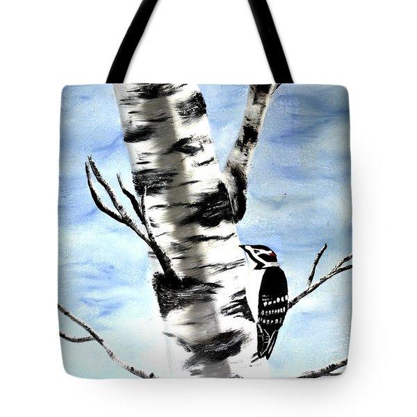 Birch Tree Tote Bag by Denise Tomasura