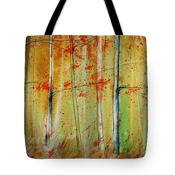 Birch Tree Forest I Tote Bag