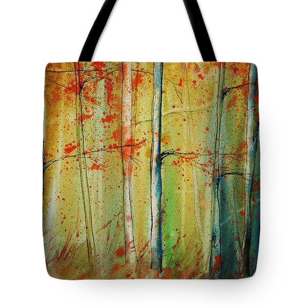 Birch Tree Forest I Tote Bag by Jani Freimann