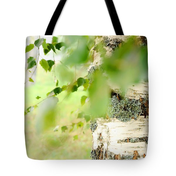 Birch Tree. The Soul Of Russian Nature Tote Bag by Jenny Rainbow