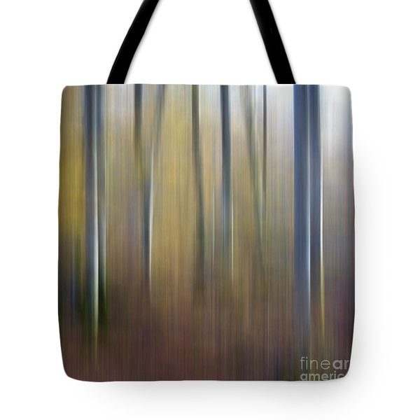 Birch Trees. Abstract. Blurred Tote Bag