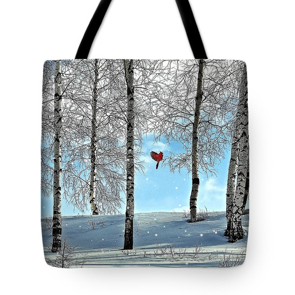 Birch Trees Tote Bag by Liane Wright