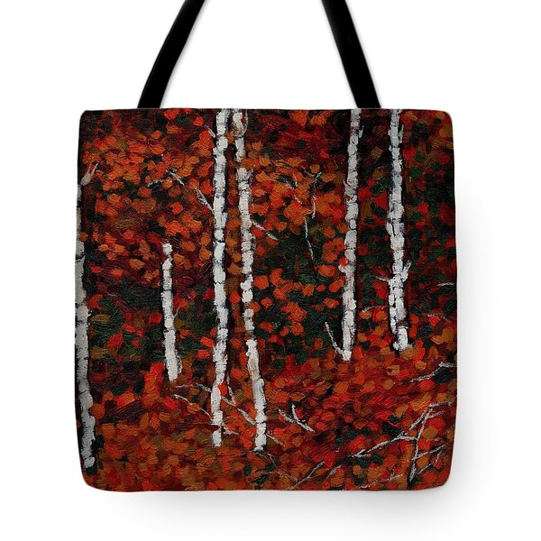 Birches Tote Bag by David Dossett