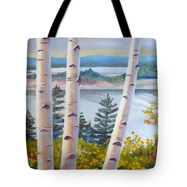 Birches In Nova Scotia Tote Bag