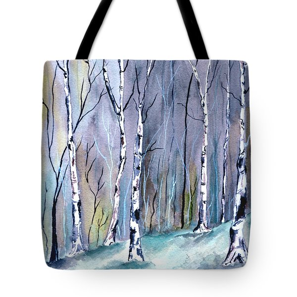 Birches In The Forest Tote Bag