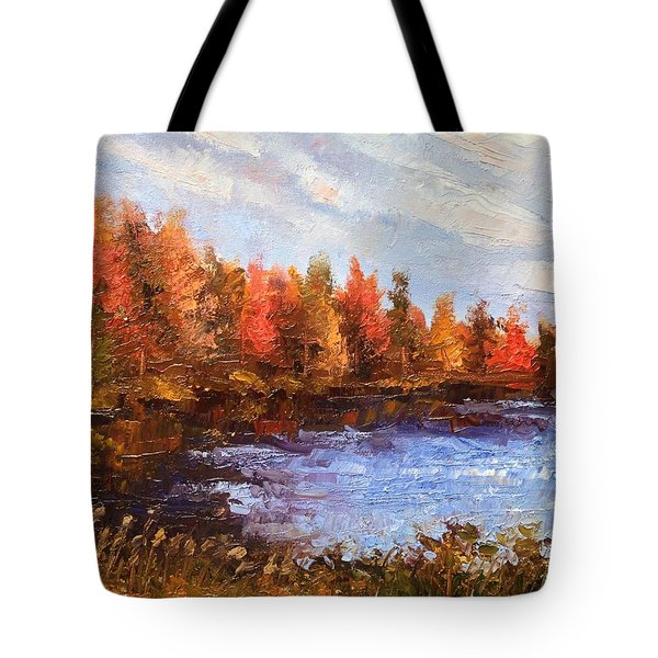 Birchwood Lake Tote Bag