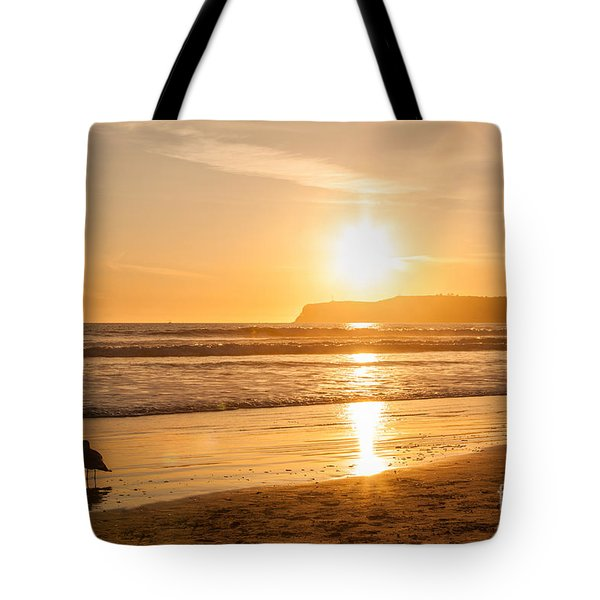 Bird And His Sunset Tote Bag