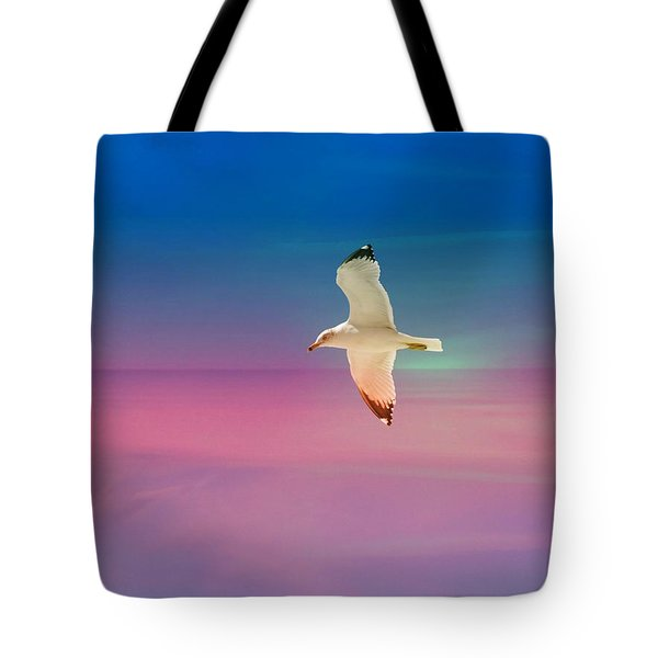 Tote Bag featuring the photograph Bird At Sunset by Athala Carole Bruckner