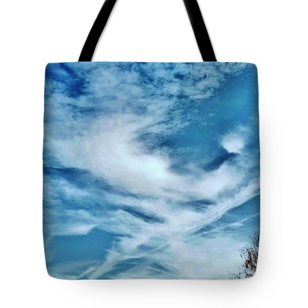 Bird Cloud Soaring By Tote Bag