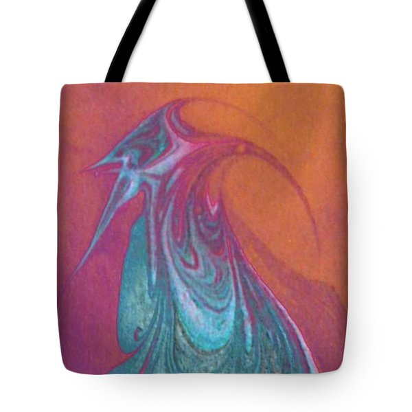 Tote Bag featuring the painting Bird Dance by Mike Breau