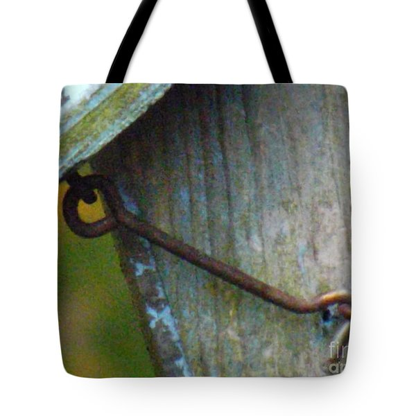 Bird Feeder Locked Memory Tote Bag