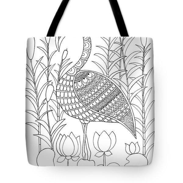 Bird Flamingo Tote Bag