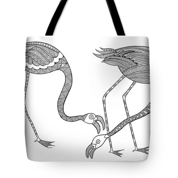 Bird Flamingos 2 Tote Bag