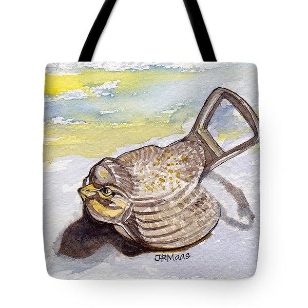 Tote Bag featuring the painting Bird Flies On Fridays by Julie Maas