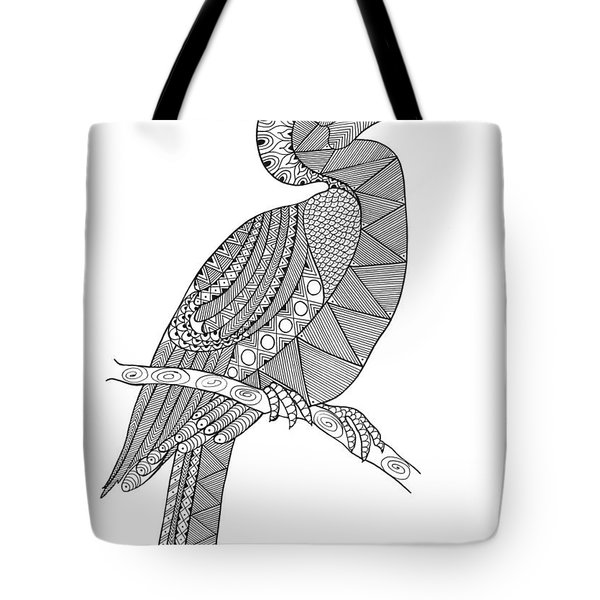 Bird Hornbill Tote Bag by Neeti Goswami