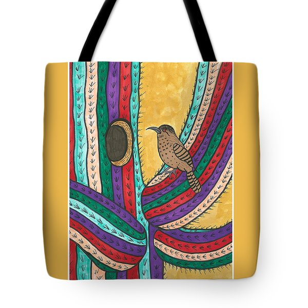 Tote Bag featuring the painting Bird House by Susie Weber