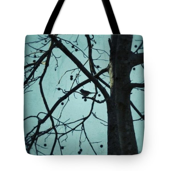 Tote Bag featuring the photograph Bird In Tree by Tara Potts