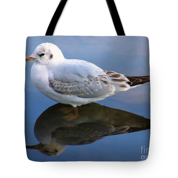 Tote Bag featuring the photograph Bird Reflections by John Swartz