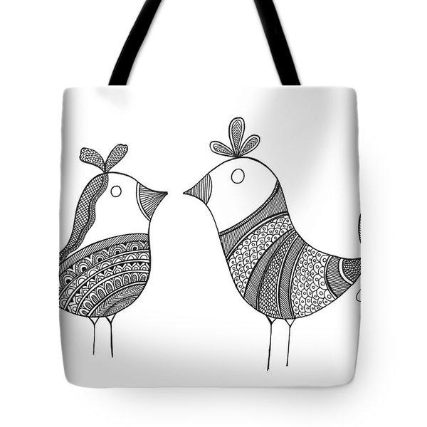 Bird Love Birds Tote Bag