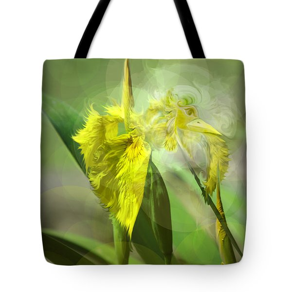 Bird Of Iris Tote Bag by Adria Trail
