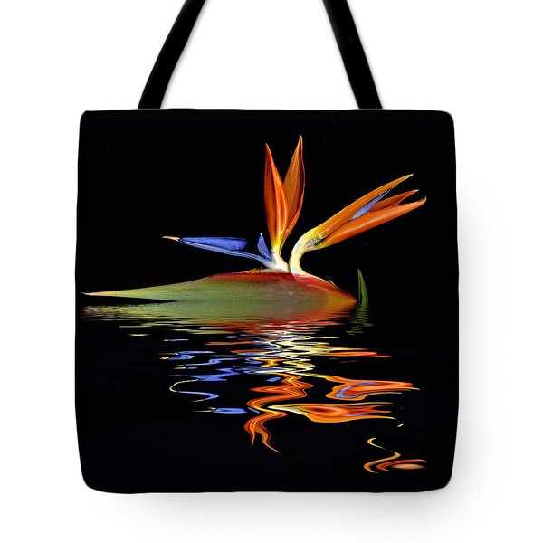 Bird Of Paradise Flood Tote Bag by Geraldine Alexander