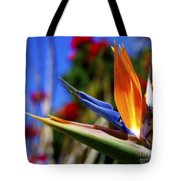 Tote Bag featuring the photograph Bird Of Paradise Open For All To See by Jerry Cowart