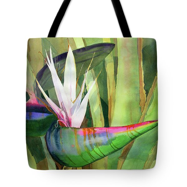 Bird Of Paradise Tote Bag by Kris Parins