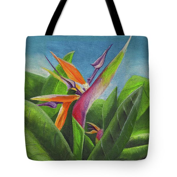 Hawaiian Bird Of Paradise Tote Bag