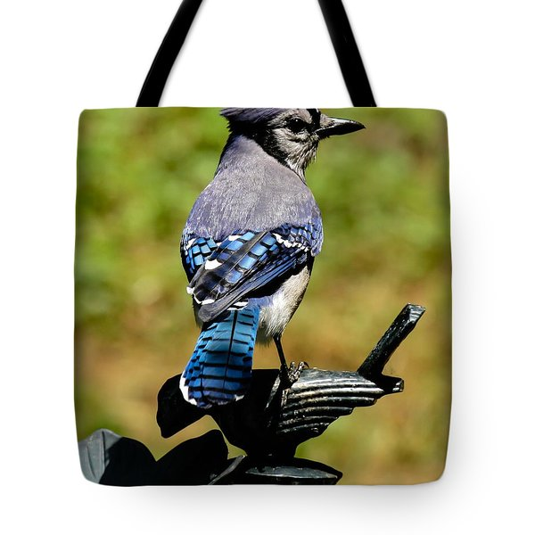 Bird On A Bird Tote Bag by Robert L Jackson