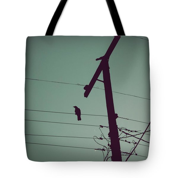 Bird On A Wire Tote Bag by Patricia Strand