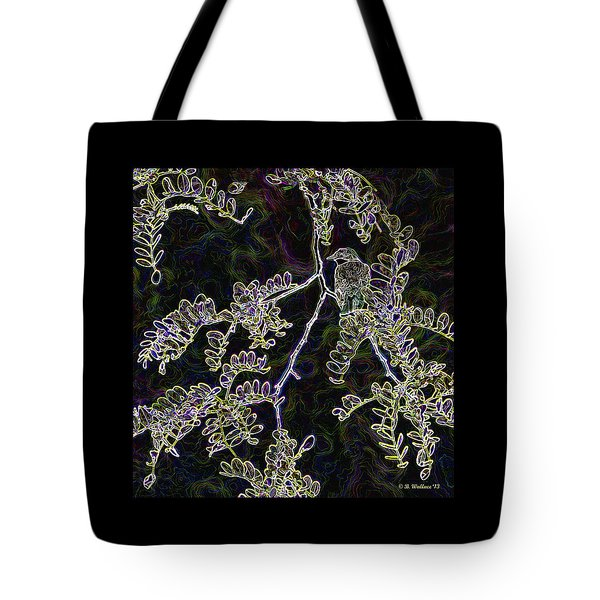 Bird On Branch Tote Bag by Brian Wallace