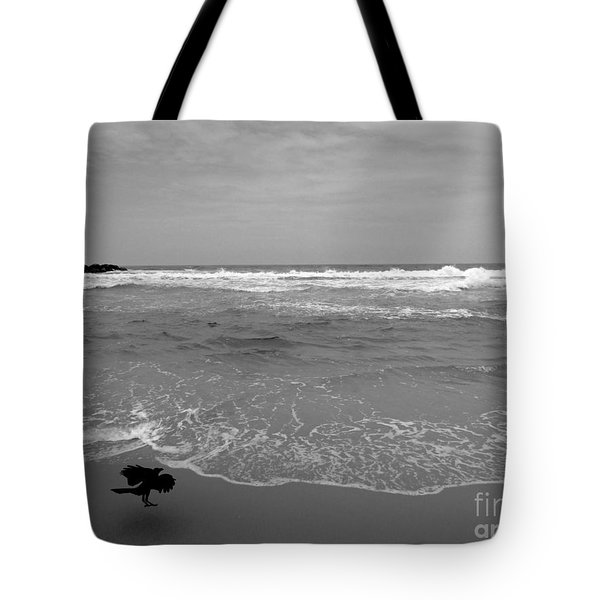 Bird On Kovalam Beach Tote Bag by Mini Arora