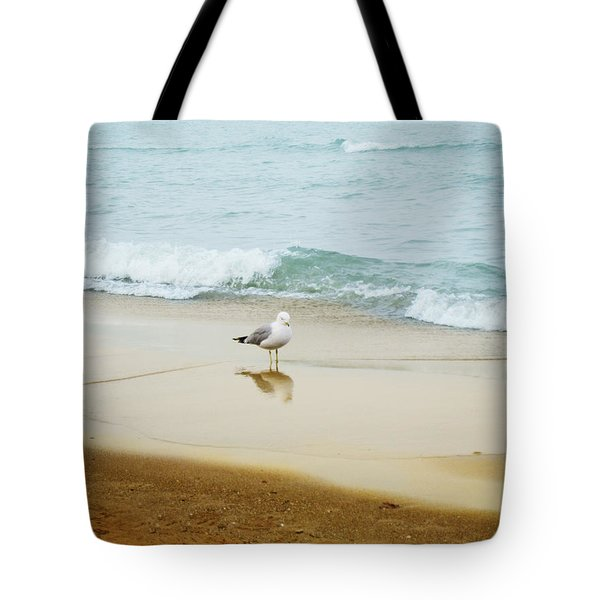 Bird On The Beach Tote Bag by Milena Ilieva