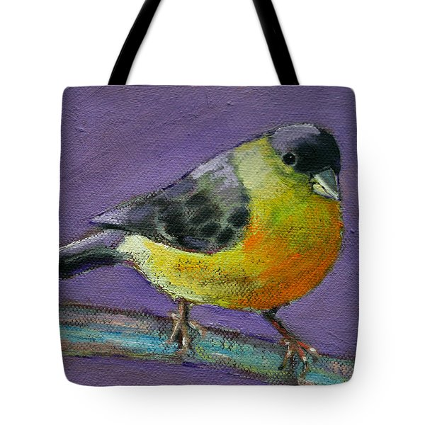 Bird Series Goldfinch Tote Bag