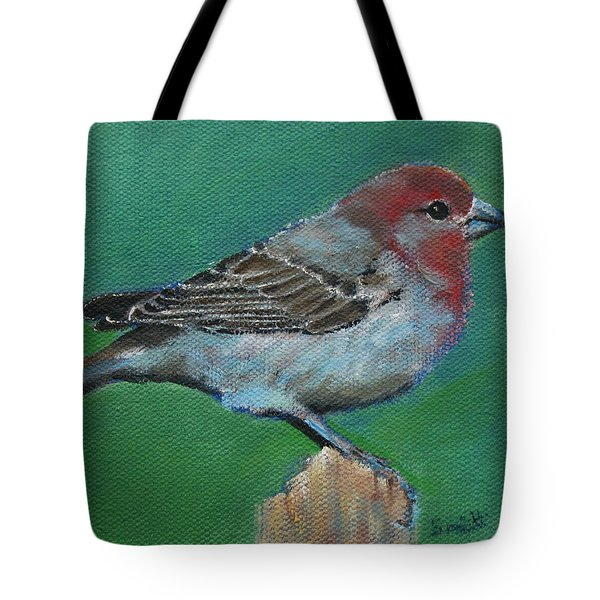 Bird Series House Finch Tote Bag
