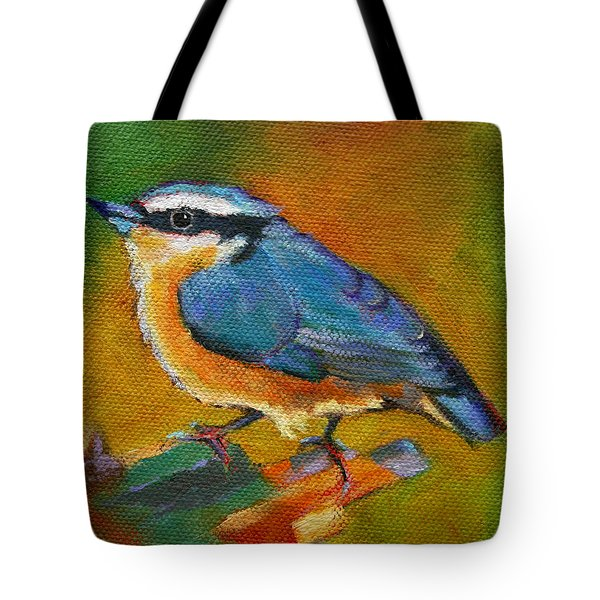 Bird Series Red Breasted Nuthatch Tote Bag