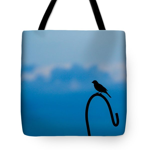 Tote Bag featuring the photograph Bird Silhouette  by Dee Dee  Whittle