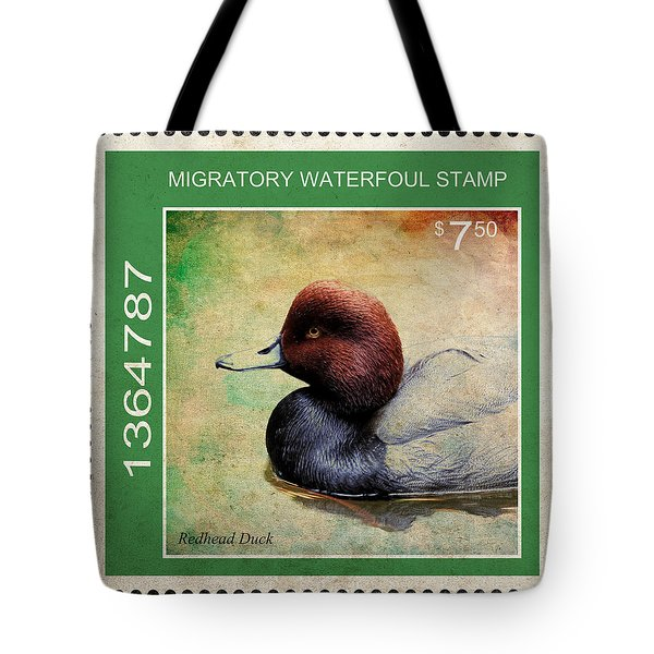 Bird Stamp Tote Bag