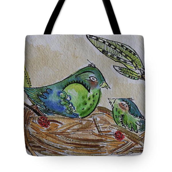 Bird Talk Tote Bag