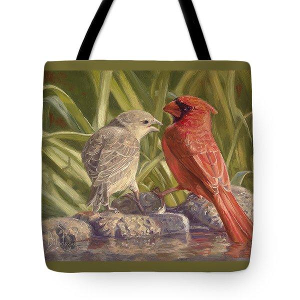 Bird Talk Tote Bag